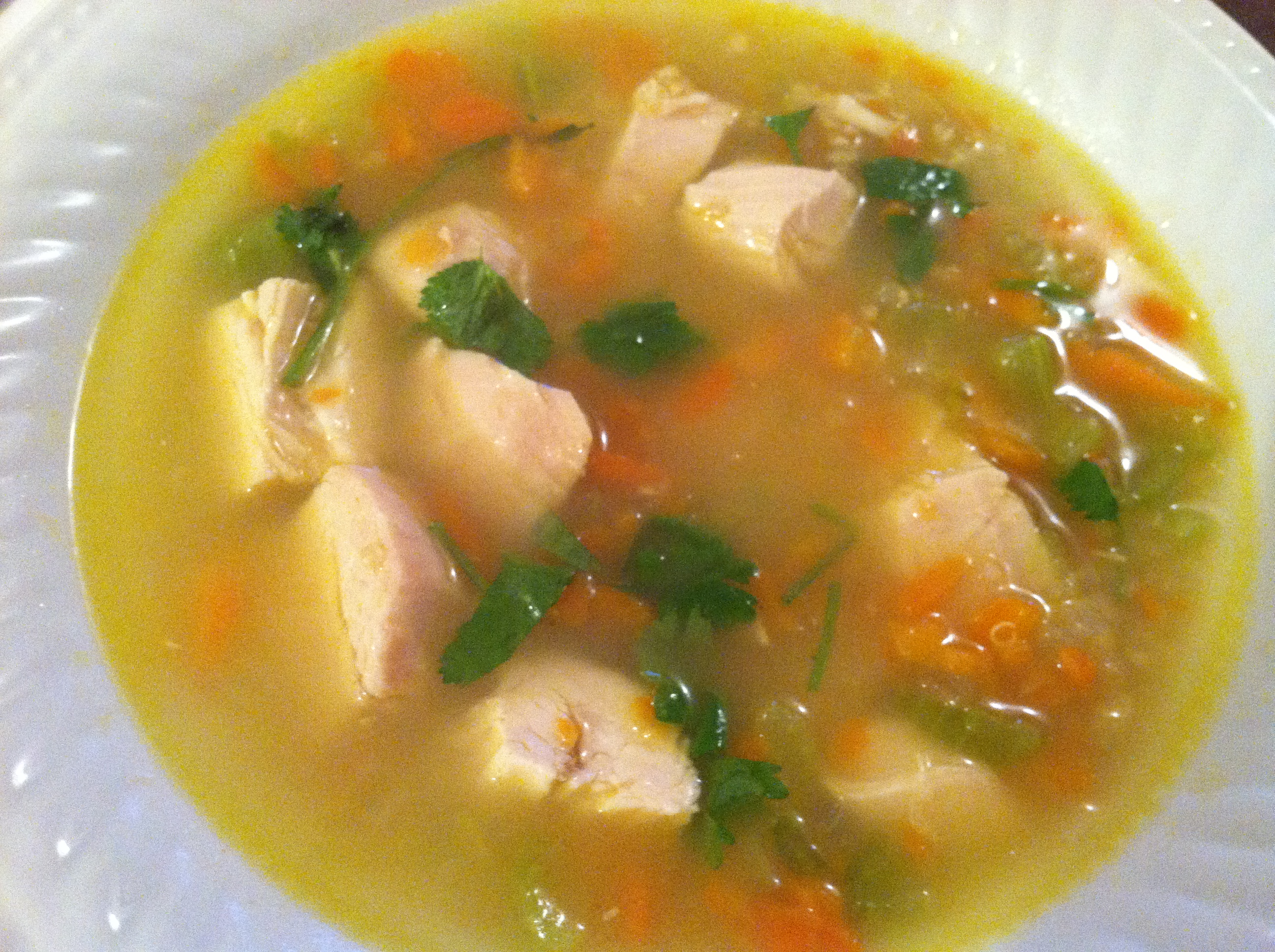 Chicken Soup With Soup Mandel Recipe — Dishmaps