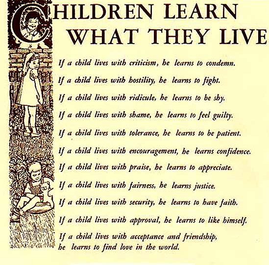 Children Learn What They Live - Roots of Action