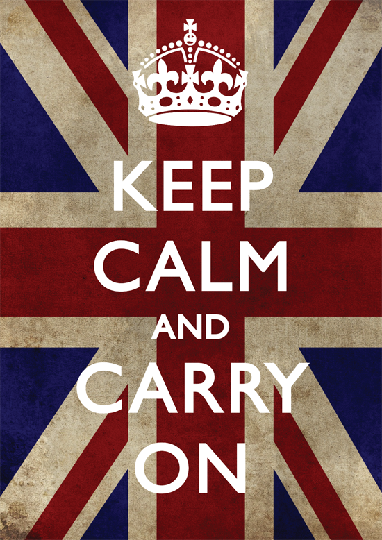 Keep Calm And Carry On | Two Chums